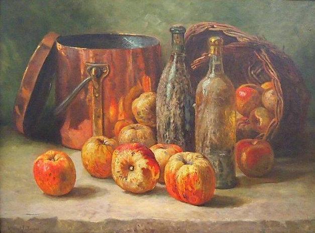 m-lenfant-nature-morte-aux-pommes-cuivre-bouteilles-et-panier.jpg