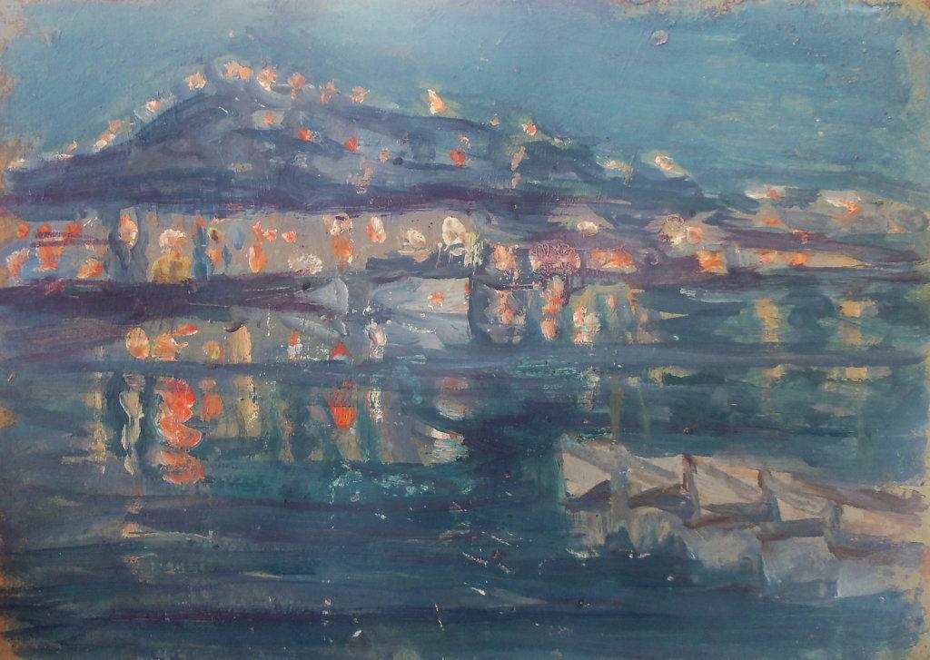 Le port de Marseille de nuit