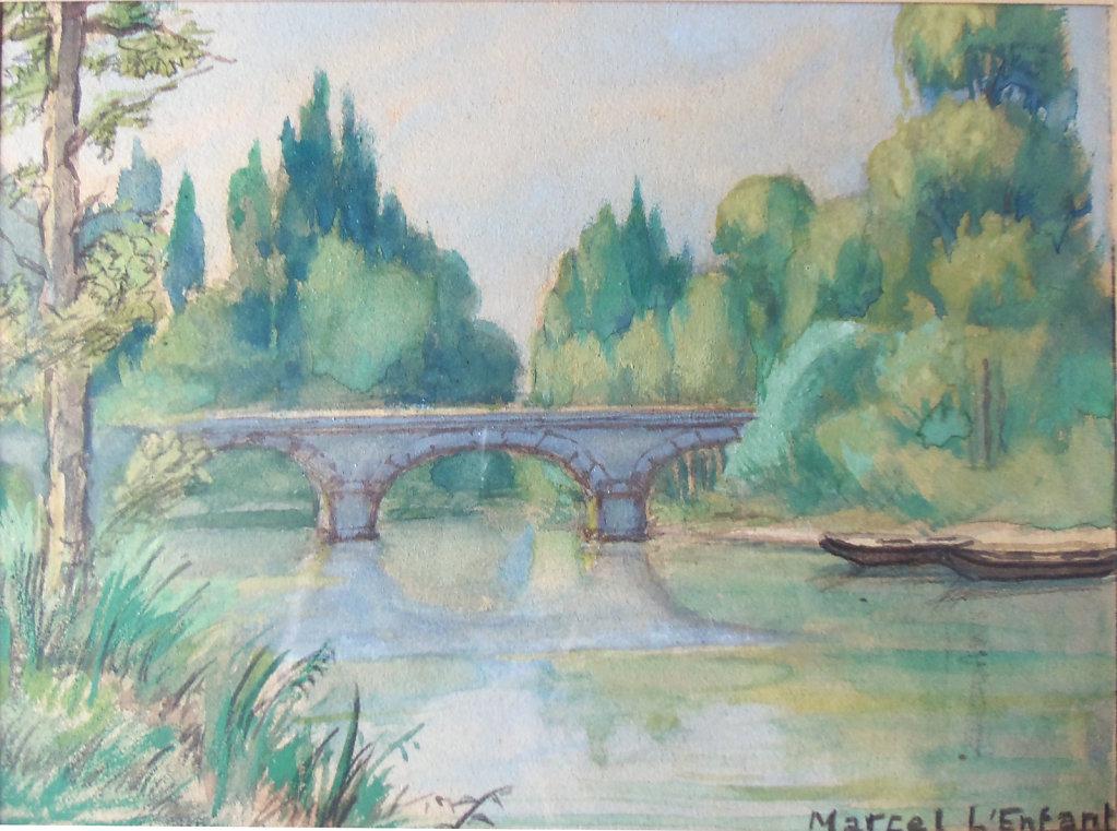 Le pont de Cailly sur Eure