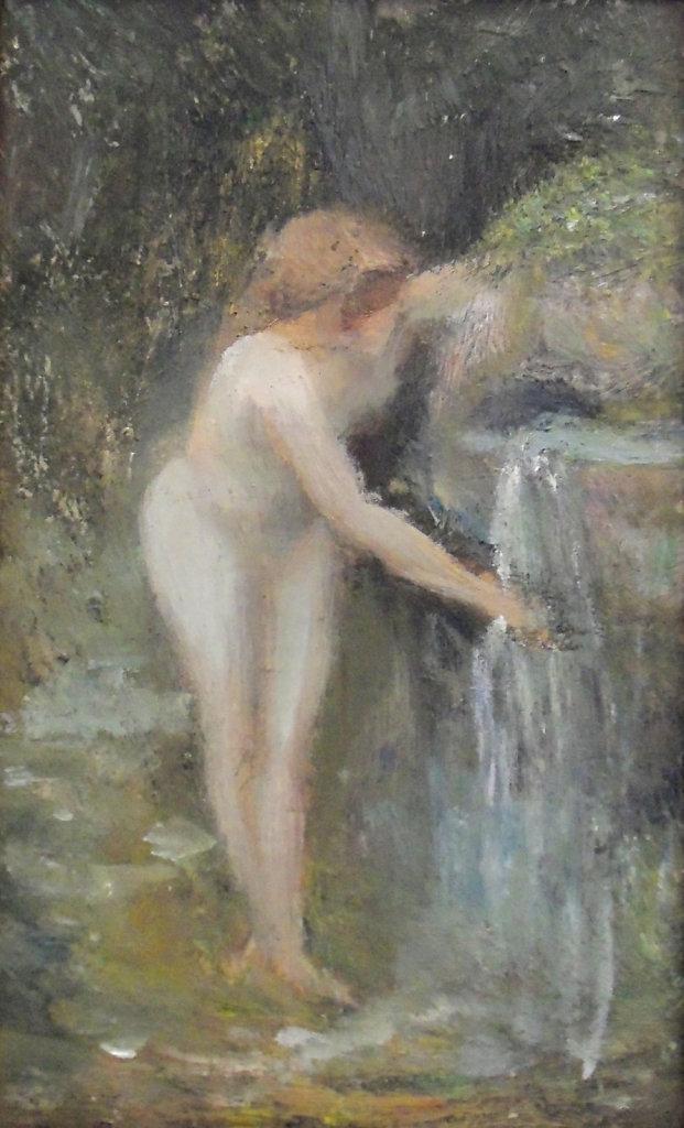 Baigneuse au ruisseau