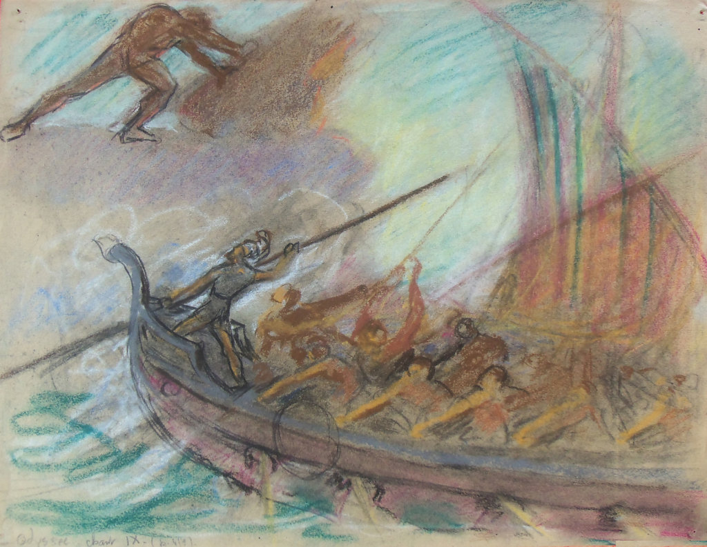 L'Odyssée, Chant 9