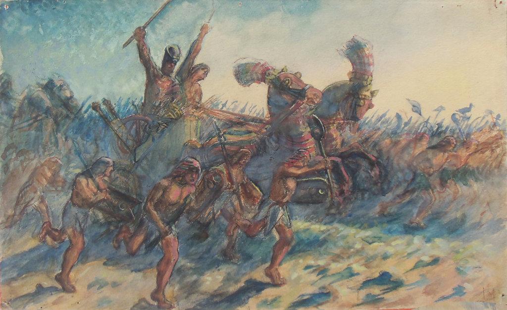 Pharaon sur le champ de bataille