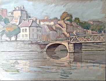 Pontoise  le Pont sur l'Oise avant guerre