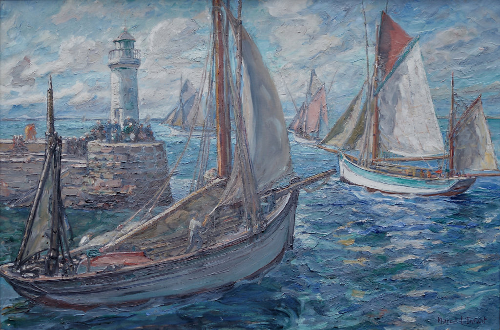 sortie de port à Port Tudy (ïle de Groix)